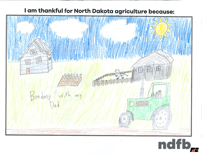Fifth grade winner in 2020 NDFB Week drawing contest