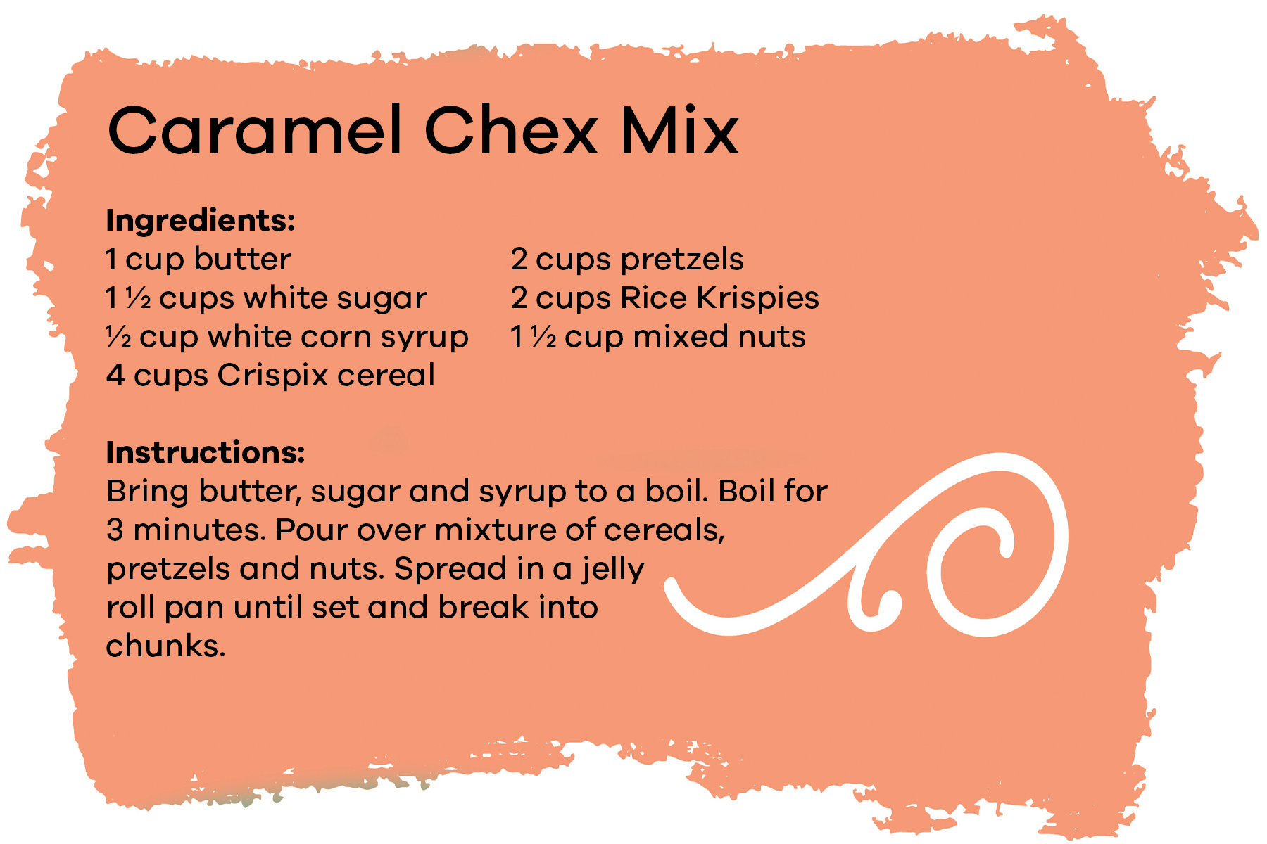Click to download Caramel Check Mix recipe card