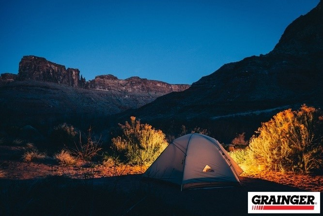 Go camping with Grainger